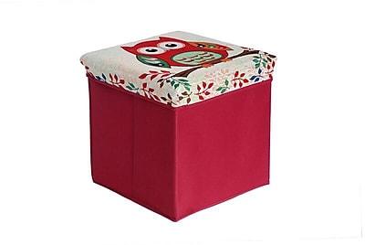 Aurora Lighting Seco Fabric Storage Ottoman Red 1 STP-TLC3109314