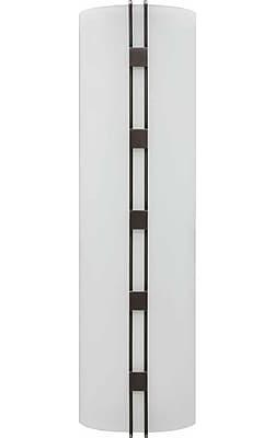 Aurora Lighting 2G11 Wall Sconce Lamp, Black Brushed Nickel(STL-VME460894)