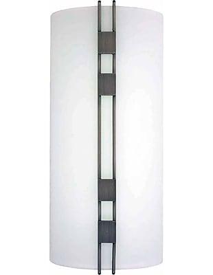 Aurora Lighting A19 Wall Sconce Lamp, Black Brushed Nickel(STL-VME460498)