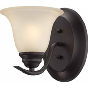 Aurora Lighting A19 Wall Sconce Lamp, Antique Bronze(STL-VME954812)