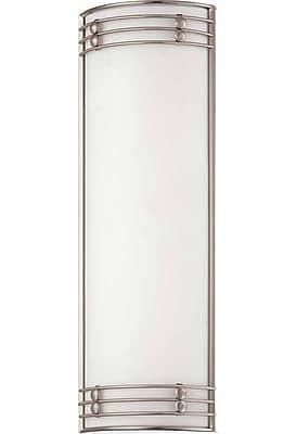 Aurora Lighting T8 Wall Sconce Lamp, Brushed Nickel(STL-VME363645)