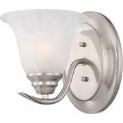 Aurora Lighting A19 Wall Sconce Lamp, Brushed Nickel(STL-VME352311)