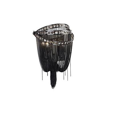Aurora Lighting B10 Wall Sconce Lamp, Black Chrome(HF1607-BLK)