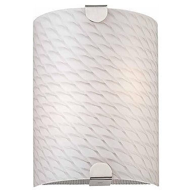 Aurora Lighting A19 Wall Sconce Lamp, Brushed Nickel(STL-VME375914)