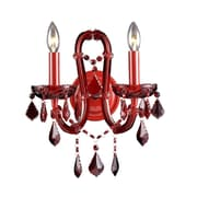 Aurora Lighting B10 Wall Sconce Lamp, Red(HF1041-RED)