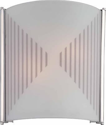 Aurora Lighting A19 Wall Sconce Lamp, Silver Grey(STL-VME260142)