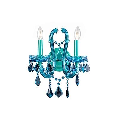 Aurora Lighting B10 Wall Sconce Lamp, Blue(HF1041-BLU)