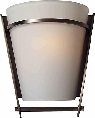 Aurora Lighting A19 Wall Sconce Lamp, Black Brushed Nickel(STL-VME437315)
