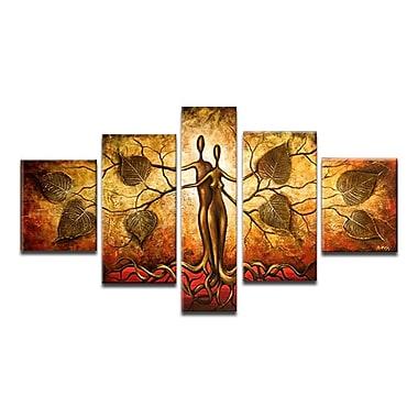 Designart – Tableau sur toile peint à la main, Homme et nature, 5 pièces, (OL153)