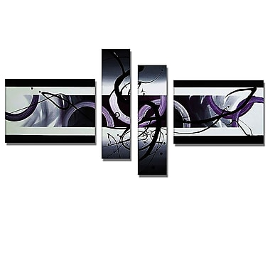 Designart Abstract, Purple Painting, (OL207)