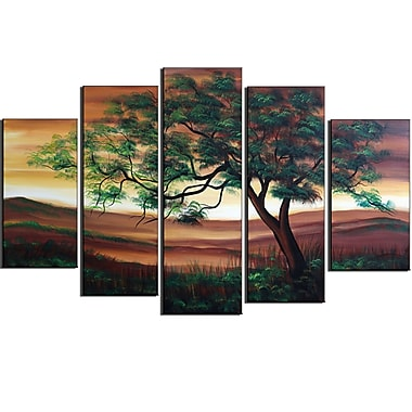 Designart Branches of Strength, 5 Piece Hand-Painted Oil on Canvas, (OL1085)