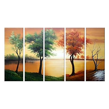 Designart Beauty of Change, 5 Piece Landscape Oil Painting, (OL1089)