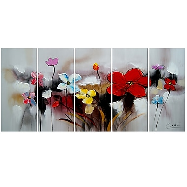 Designart Blooming Through- Highly Textured Canvas PaintingBlooming Through Highly Textured Canvas Painting, (OL1105)
