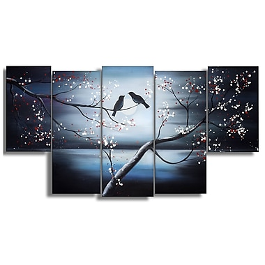 Designart Together Forever Birds Canvas Oil Painting, (OL1268)