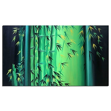 Designart Abstract Bamboo Hand Painted Art, (OL702s)