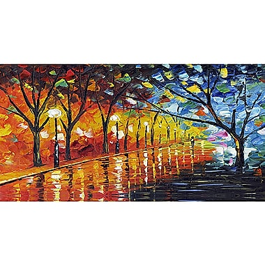 Designart Stroll Through Beauty Gallery-wrapped Canvas Art, (PT2026-32X16)
