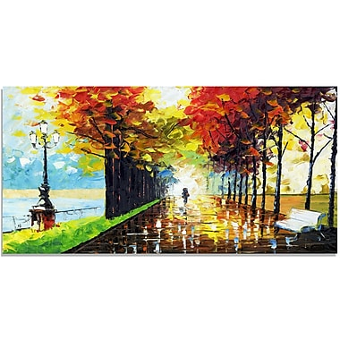 Design Art Walk On Forest Landscape Canvas Wall Art, (PT2027-32X16)