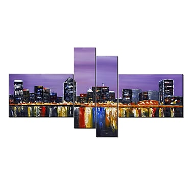 Designart Montreal Landscape Art on Canvas, 60