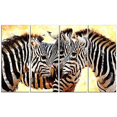 Designart Zebra Trio Canvas Art Print (PT2304-271)