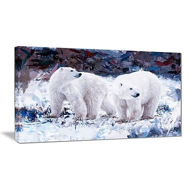 Designart Polar Bear Pals Canvas Art Print, 5 Panels, (PT2307-40-20)