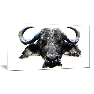 Designart Stare of the Bull Canvas Art Print, 5 Panels, (PT2309-40-20)