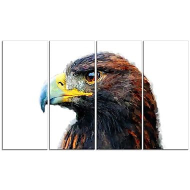 Design Art Golden Eagle Canvas Art Print 5 Panels
