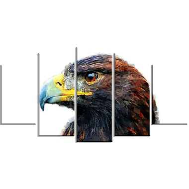 Designart Golden Eagle Canvas Art Print, 5 Panels, (PT2311-373)