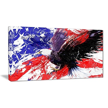Designart American Bald Eagle Canvas Art Print, 5 Panels, (PT2313-32-16)