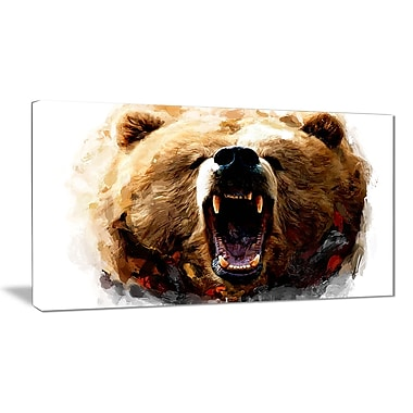 Designart Warning Roar Canvas Art Print, 5 Panels, (PT2318-32-16)