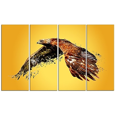 Designart Soaring Eagle Canvas Art Print, 5 Panels, (PT2320-271)
