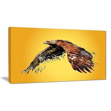 Designart Soaring Eagle Canvas Art Print, 5 Panels, (PT2320-40-20)