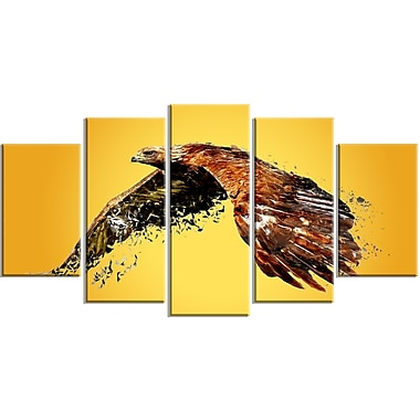 Designart Soaring Eagle Canvas Art Print, 5 Panels, (PT2320-373)