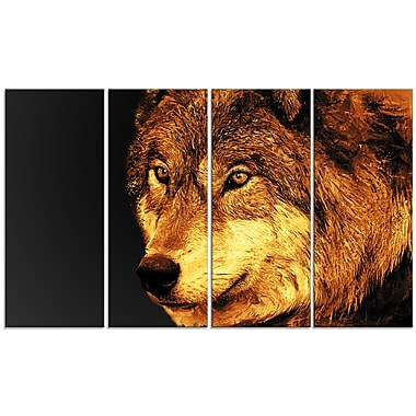 Designart Eyes of a Predator Canvas Art Print, 5 Panels, (PT2323-271)