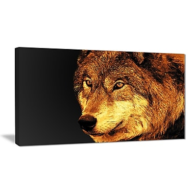 Designart Eyes of a Predator Canvas Art Print, 5 Panels, (PT2323-32-16)