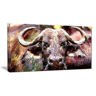 Designart Bull in the Herd Canvas Art Print, 5 Panels, (PT2325-40-20)