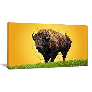 Designart – Lone Bison, impression sur toile, 5 panneaux (PT2326-40-20)