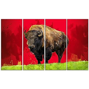 Designart – Lone Bison, impression sur toile, 5 panneaux (PT2327-271)