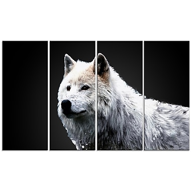 Designart Wonder of the Wolf Canvas Art Print, 5 Panels, (PT2329-271)