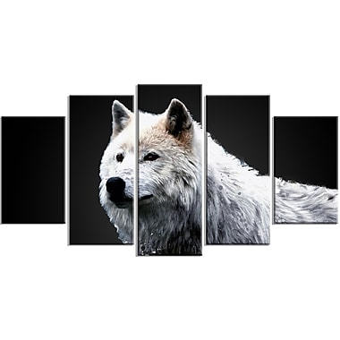 Designart Wonder of the Wolf Canvas Art Print, 5 Panels, (PT2329-373)