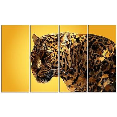 Designart – Imprimé sur toile, regard tacheté, 5 panneaux (PT2331-271)