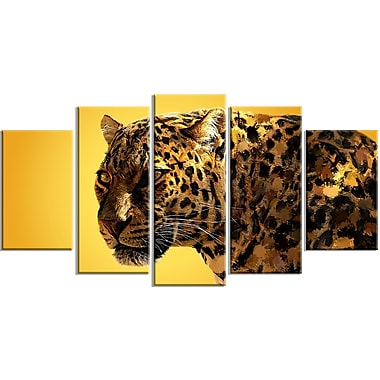 Designart Spotted You Canvas Art Print, 5 Panels, (PT2331-373)
