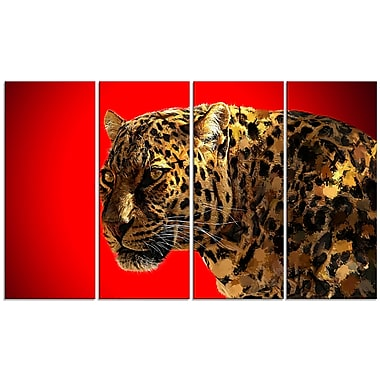 Designart Spotted You, Red Canvas Art Print, 5 Panels, (PT2332-271)