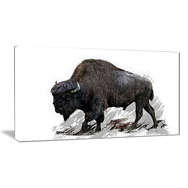 Designart Migrating Bison Canvas Art Print, 5 Panels, (PT2333-32-16)