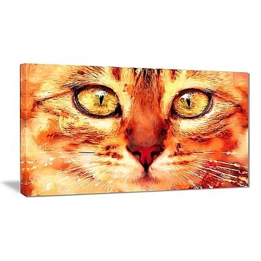 Designart Feline Stare Canvas Art Print, 5 Panels, (PT2334-40-20)