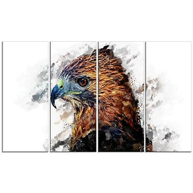 Designart Hawk Eye Canvas Art Print, 5 Panels, (PT2337-271)