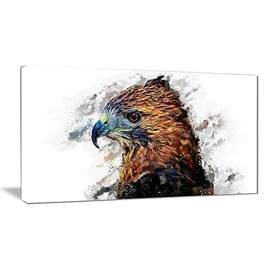 Designart Hawk Eye Canvas Art Print, 5 Panels, (PT2337-32-16)