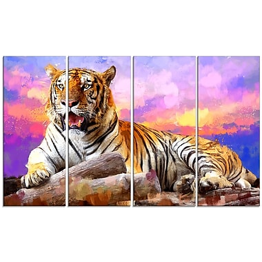 Designart King of Tigers Canvas Art Print, 5 Panels, (PT2339-271)