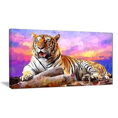 Designart King of Tigers Canvas Art Print, 5 Panels, (PT2339-40-20)