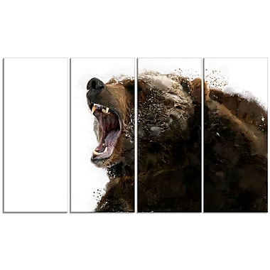 Designart Beware of the Bear Canvas Art Print, 5 Panels, (PT2341-271)