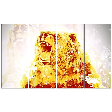 Designart Sparkling Bear Canvas Art Print, 5 Panels, (PT2349-271)